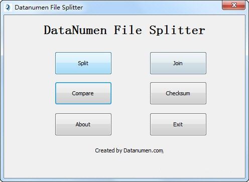 DataNumen File Splitter下载_DataNumen File Splitter V1.0 英文安装版 哈希