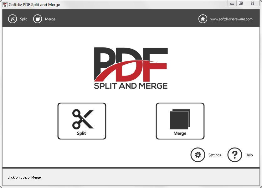Softdiv PDF Split and Merge下载_Softdiv PDF Split and Merge(PDF分割及合并工具) V1.0 英文安装版 英文
