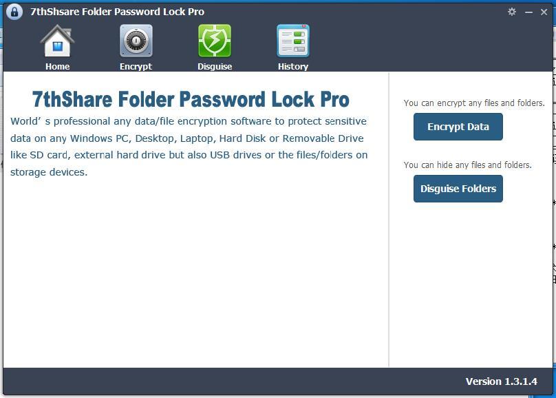 7thShare Folder Password Lock Pro下载_7thShare Folder Password Lock Pro V1.3.1.4 英文安装版 Pro
