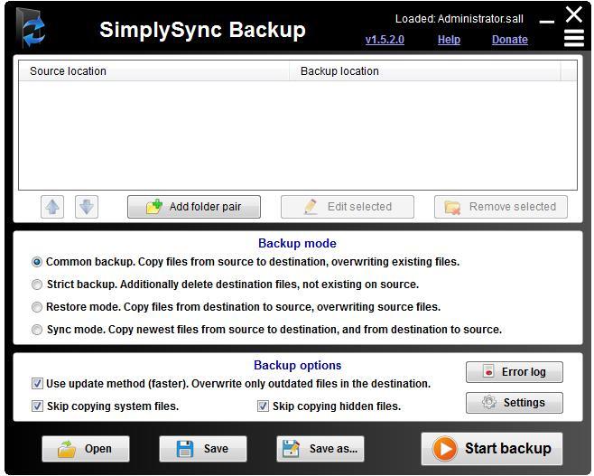 SimplySync Backup下载_SimplySync Backup(系统备份工具)  V1.5.2.0 英文绿色版 2.0