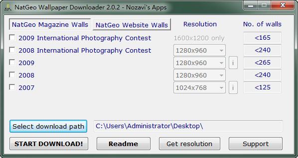 国家地理杂志壁纸下载_国家地理杂志壁纸免费下载器绿色安装版 V2.02 绿色版