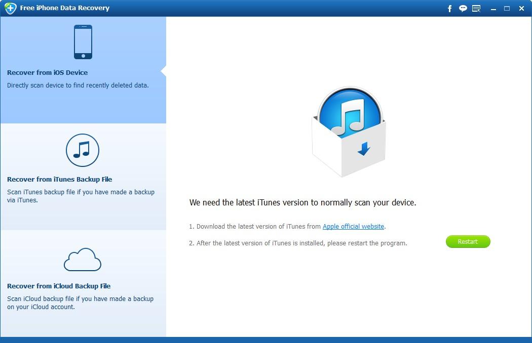 数据恢复软件下载_【数据恢复软件下载】Aiseesoft Free iPhone Data Recovery V1.1.8 英文安装版 Recovery